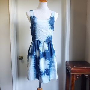 American Eagle Outfitters Denim Tie Dye Dress